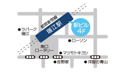 瑞江店地図